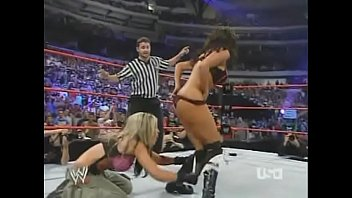 2005 10-3 Wwe Raw Bra & Panties 3 On 2 Match - Torrie Wilson, Candice Michelle & Victoria Vs Trish Stratus & Ashley Thumb