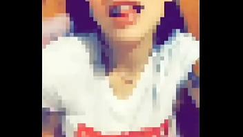 Ailin Caramelo flshing tits on Snapchat