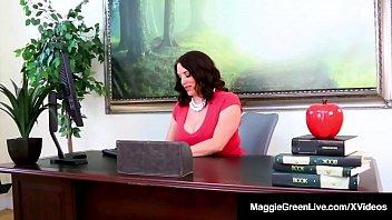 Ebony Student Jenna Foxx Sits On Ms. Maggie Green'_s Face!