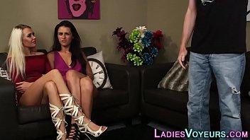 Sexy cfnm mistress mocks