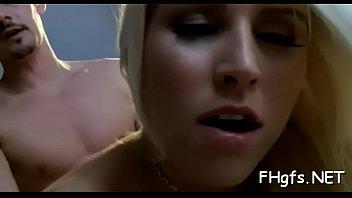 Tempting blonde sweetheart Vanessa gets rammed