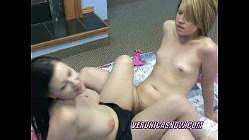 Cute Angelica shares a dildo with a horny slut