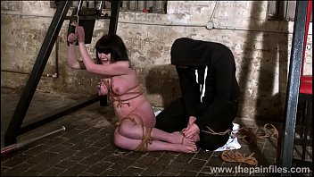 Brutal amateur bondage and humiliation of slave Louise Red in homemade bdsm and crying masochist punishment of kinky brunette tied and punished
