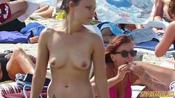 Hot Topless Beach Voyeur Teens - Amateur Spy Beach Video