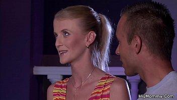 Mom toying his slim blonde lesbian   european   mature   euro