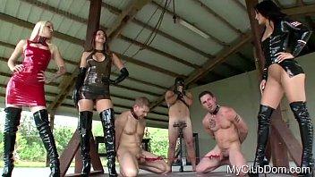 3 guys getting some brutal punishing