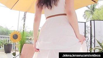 Busty Brunette Jelena Jensen Cums After Buffing her Wet Muff