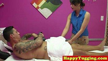 Real asian masseuse pampering customer