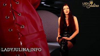 Shiny PVC Domina Lady Julina gibt mistress domina