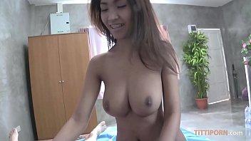 Sex tourist slides cock into big boobs Thai babe