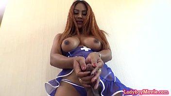 Hung Ladyboy Nurse Jasmine Barebacked
