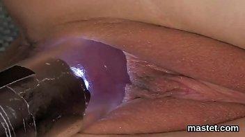 Wacky czech nympho opens up her wet slit to the bizarre