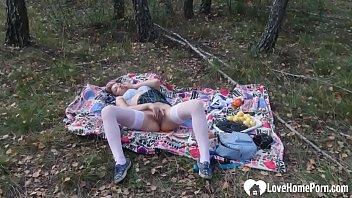 I do not need anyone when masturbating outdoors