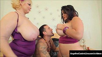 Huge BBWs Angelina Castro & Samantha 38G Are Titty Banged!