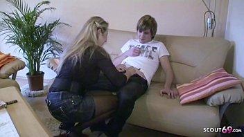 German Step Mom Jenny Teach Son How to Fuck on 18 Birthday