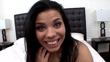 Thick petite Latina Selena Rios wrecked by a big cock