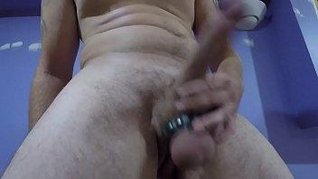 Edging my big cock balls swollen and full of cum
