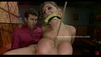 Sex slave fucking in rough bondage submission sex video