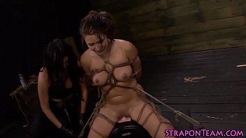 Kinky mistress bangs smalltits | strapon | sybian | shibari