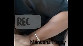 Seduced at office - Indian Tranny Manusha sucking licking tranny
