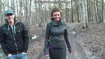 Русское порнораком в лесу за деньги
