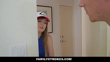 FamilyStrokes- Step-Sis Blows bro for Pokemon