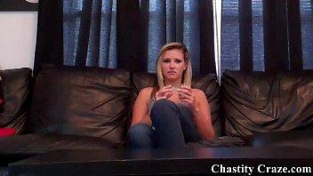 Locked in chastity tightly for Dacy Lynn