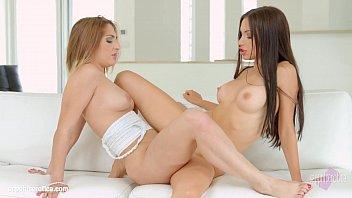 Lesbian teen threesome gif