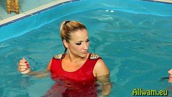 sensual pool play eurobabes