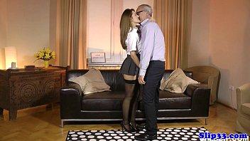 Classy schoolgirl nailed by british geriatric | Video Make Love