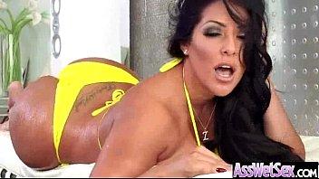 Sluty Big Butt Girl (kiara mia) Get Oiled And Hard Anal Banged movie-19