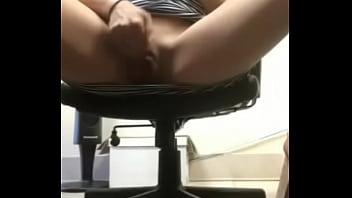 Hot blonde rubs pussy in school