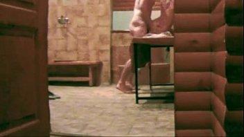 Russians in sauna a lot of hidden cams