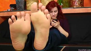 The Best Fuckable RedHead Sexy Feet You Ever Fuckin Seen