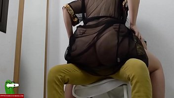 Horny fucked with Jesus on a chair. SAN313