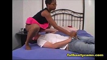 Fucking this Ebony Booty all night - fatbootycams.com