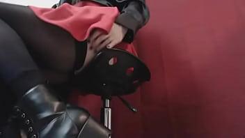 femdom alternative Preview Snippet Fetish Clip Underdesk Voyeur Goth Schoolgirl in Boots &amp_ Stockings