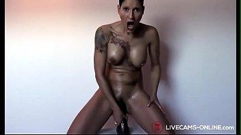 German Tattoo Girl Masturbate