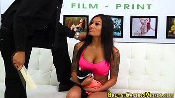 Busty latina teen tied up