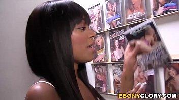 Ebony Tila Flame Squirts On Strangers Cock at Gloryhole