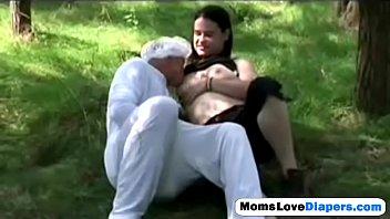 Milf Erica Venus breastfeed diapers guy anal strap on