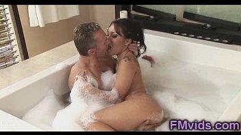 Asa Akira Marcus London nice bathtub sucking
