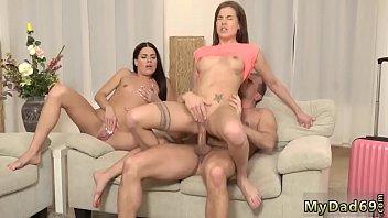 Young pregnant creampie and bikini anal threesome xxx Mom's two