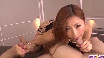 Sloppy blowjob in sensual scenes by naked Reira Aisaki - More at Slurpjp.com