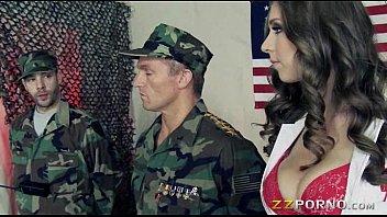 Big tits nurse Alex Chance sucks off cock and anal slammed