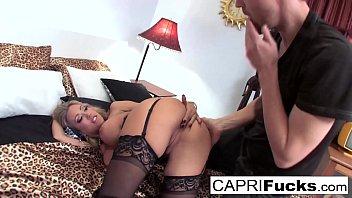 Capri seduces a man in a cheesy motel room