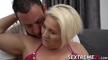 Blonde granny Bibi enjoys a sensual fucking session
