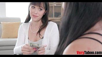 StepMom pays slut daughter to fuck virgin bro!