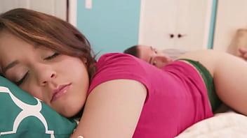 Sleeping stepsister had a fun awakening