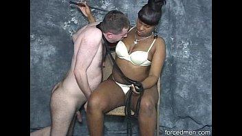 Ebony demands ponyboy to lick her entire body